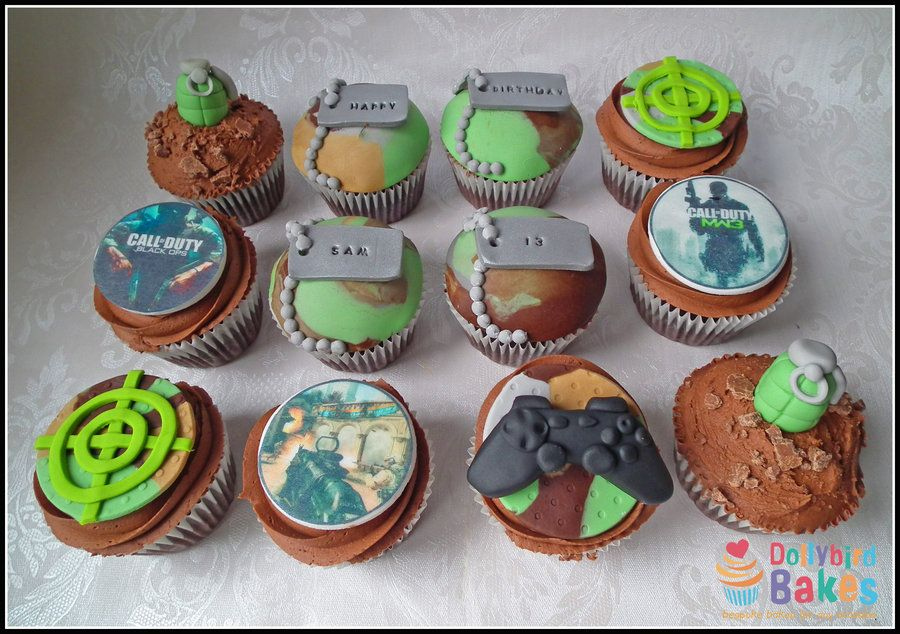 Call of duty cupcakes cakes pinterest cupcake ideas