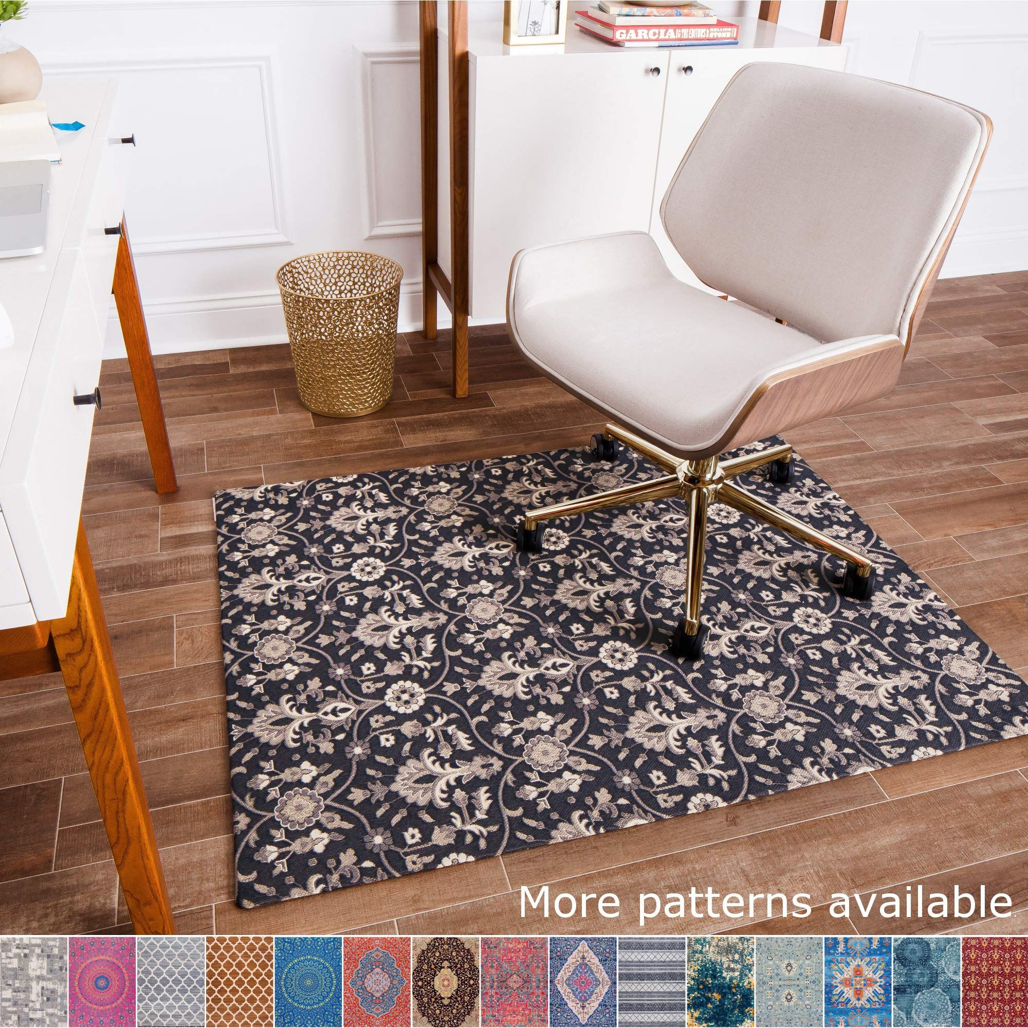 Anji Mountain Chair Mat Rug D Collection 1 4 Quot Thick For Low Pile Carpets Amp Hard Surfaces Alhambra Blac In 2020 Floor Rugs Low Pile Carpet Rugs On Carpet