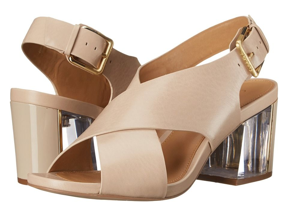 For Sale Womens Sandals Calvin Klein Loni Cocoon Leather