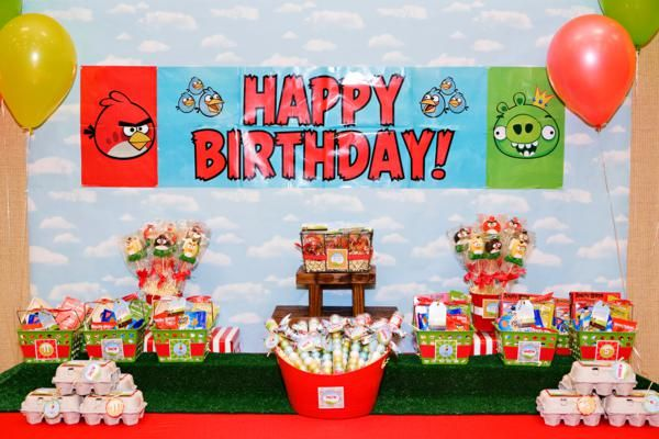 Angry Birds Boy Video Game Birthday Party Planning Ideas Angry