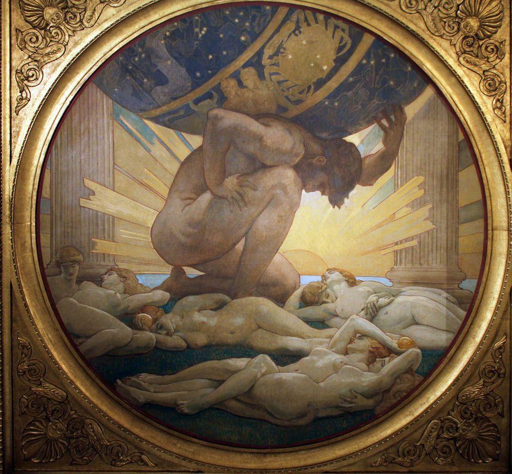 Atlas And The Hesperides | Greek art, Mythology art, Art