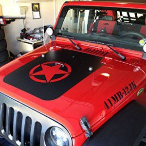 Jeep Jk Military Star Hood Blackout Jeep Decals Jeep Military Star