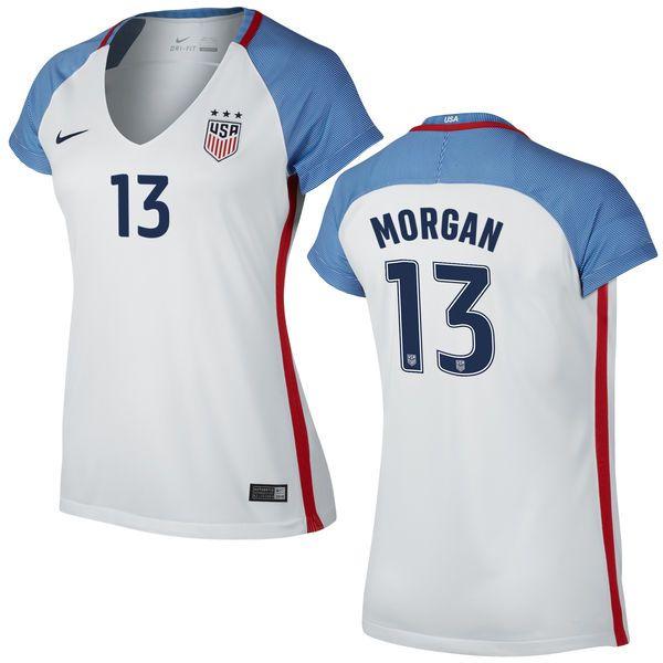 e967eaa26 Alex Morgan Home Women s Jersey 2016 USA Soccer Team