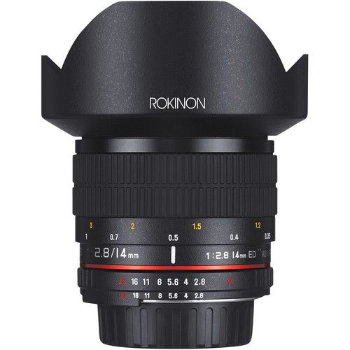 Rokinon 14mm F 2 8 If Ed Umc Lens For Nikon With Ae Chip Ultra Wide Angle Lens Fixed Lens Wide Angle Lens