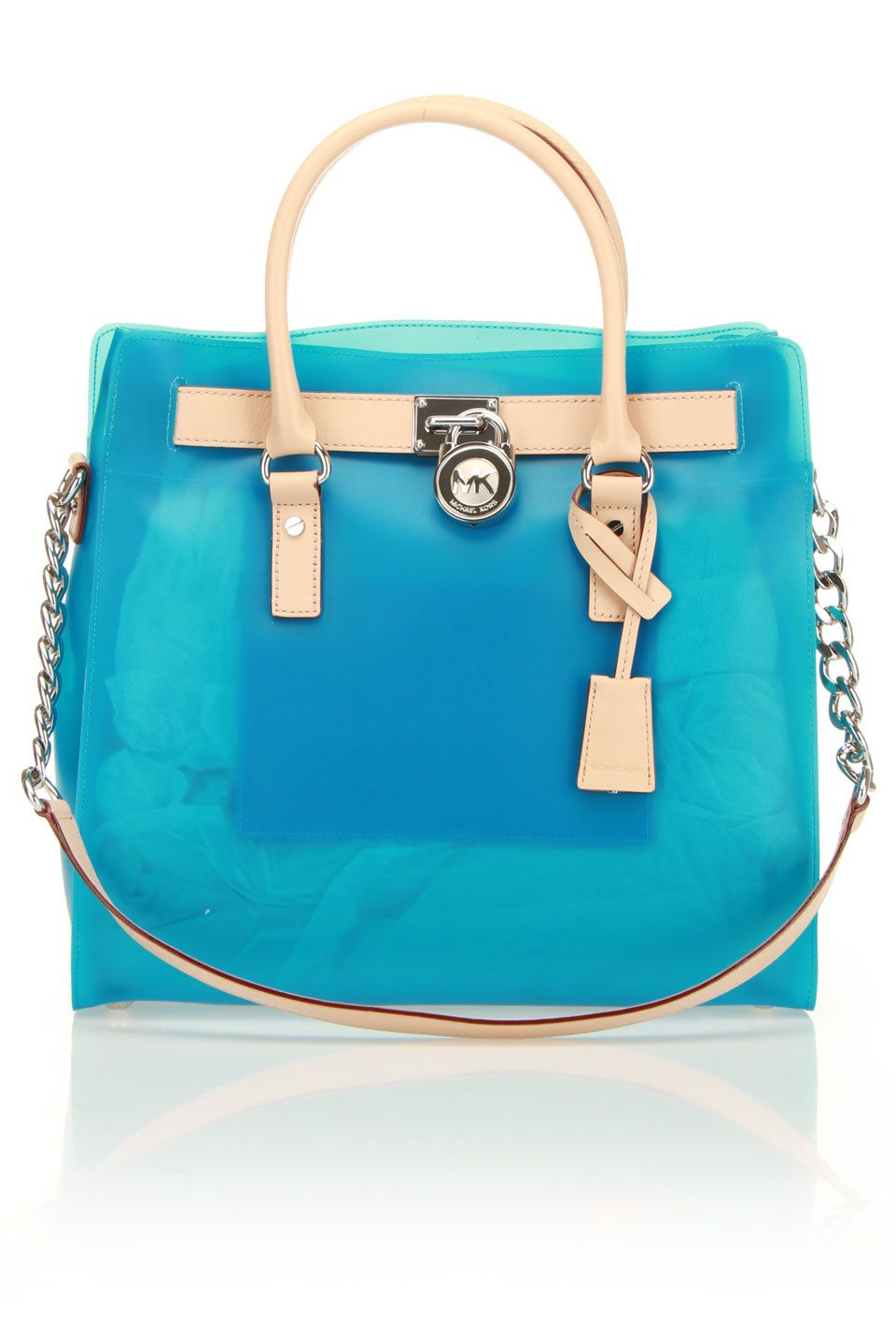 MK Jelly Tote in Turquoise Michael Kors Coupon e372ad8e8139f