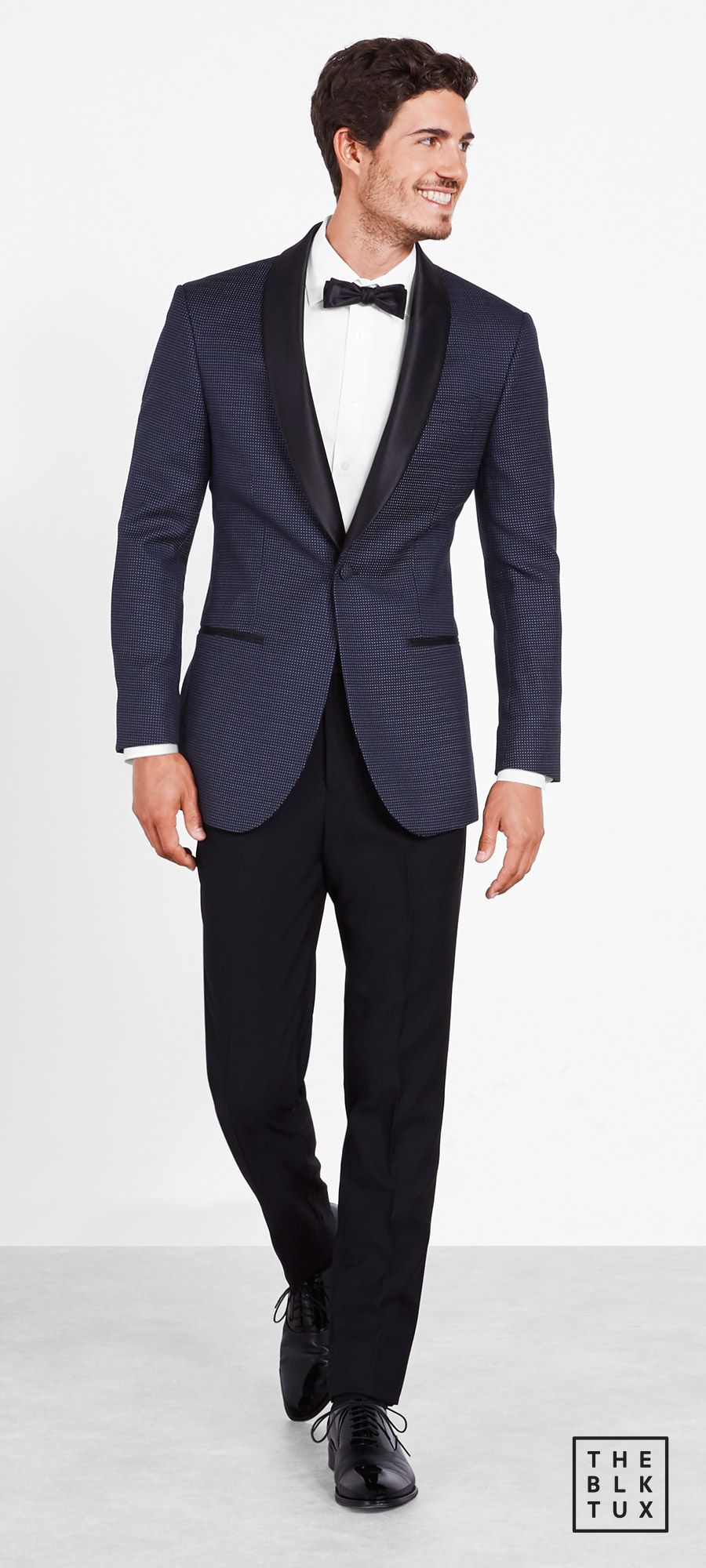 the black tux 2017 online tuxedo rental service the midnight pin dot tuxedo  groommen best man style -- Suit Up in Style, The Black Tux Way