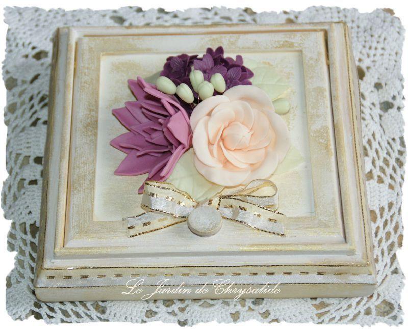 Boîte à bijoux fleurie.
