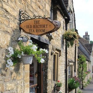 The Old Rectory Tea Room in Castle Combe, a small village in Wiltshire, England