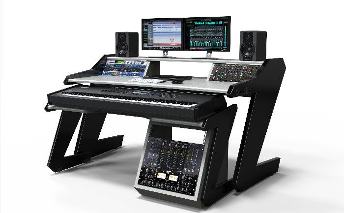 Home Studio Desk Workstation Furniture Modular System Design Allows You To Set Up How Choose And Expand As Your Grows For Recordings