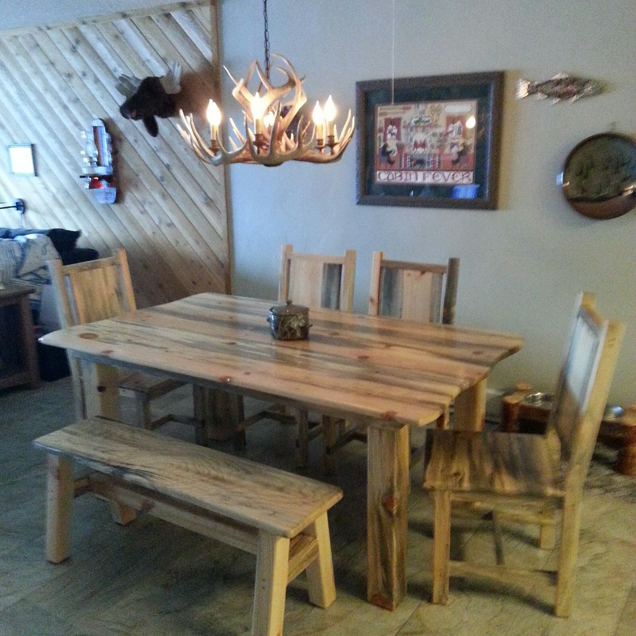 Blue Pine Dining Table Pine Dining Table Dining Table Rustic