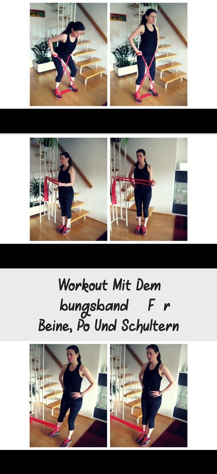 Workout | Training mit Übungsband bzw. Theraband. Bei diesen Übungen werden Be...   - Fitness - #BEI...