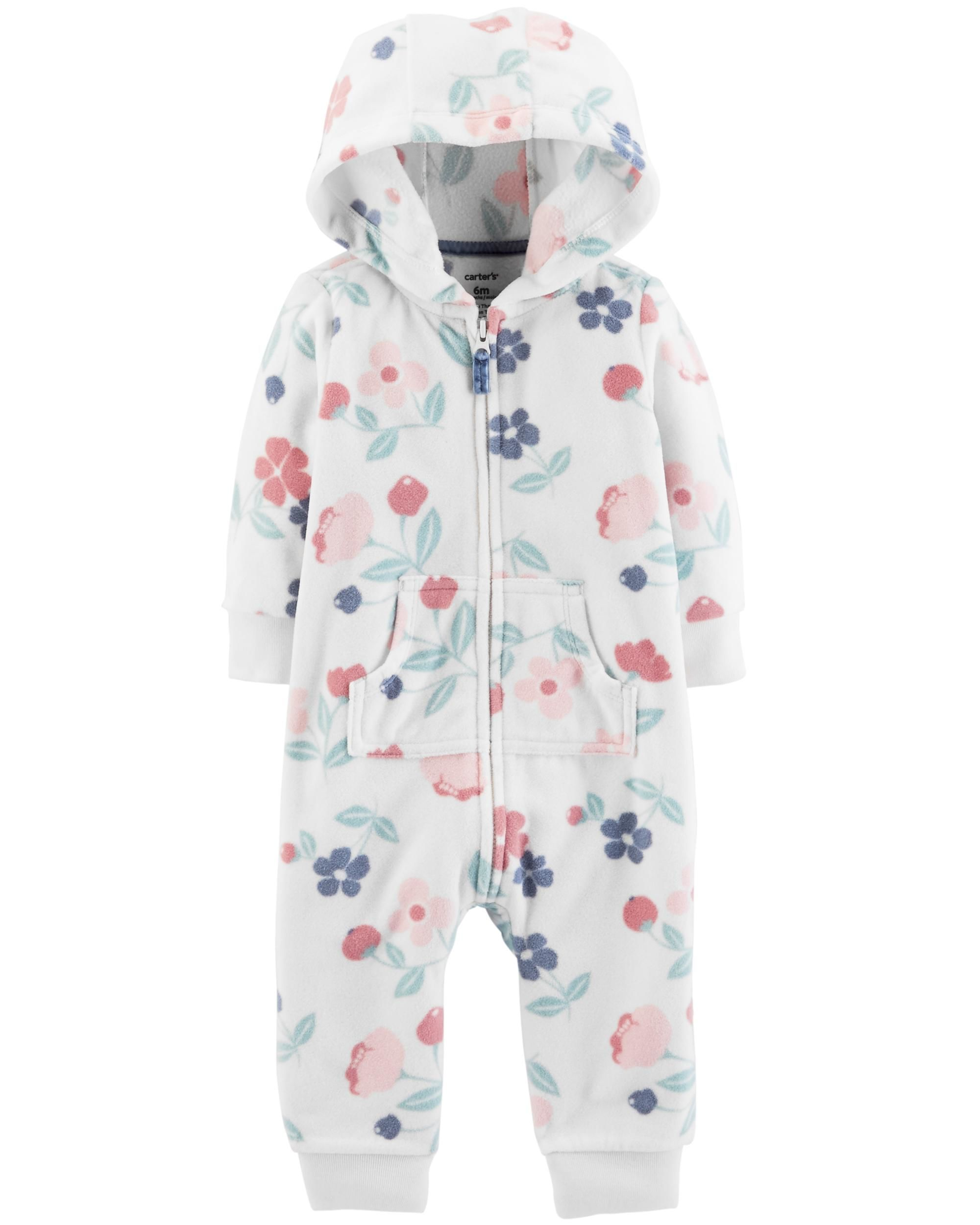 7c1e000add7a Floral Hooded Fleece Jumpsuit