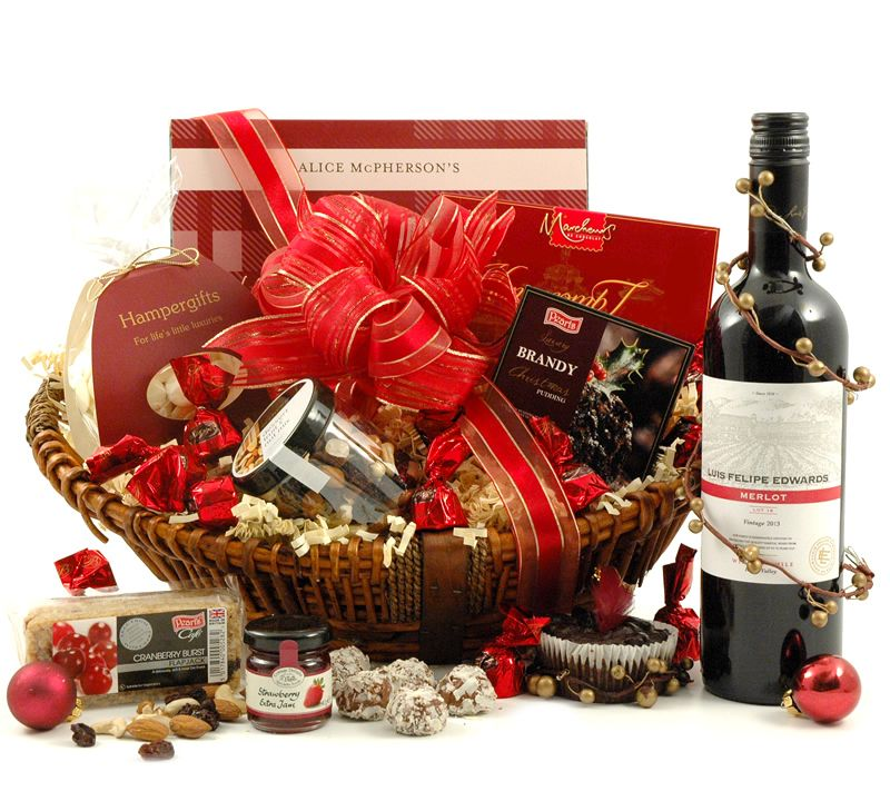 Hampers & beautifully presented Gift Baskets for all occasions. Food Hampers,  Wine Hampers, Chocolate Gifts, Christmas Hampers and more from just