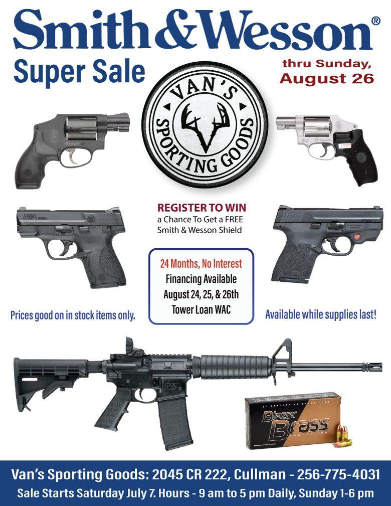 Van's Sporting Goods S & W DAYS SALE Fun sports, Sale