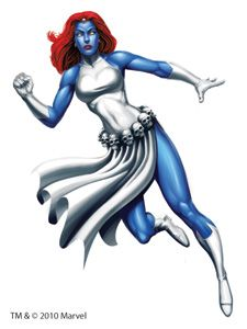 Mystique Marvel Large Temporary Tattoo