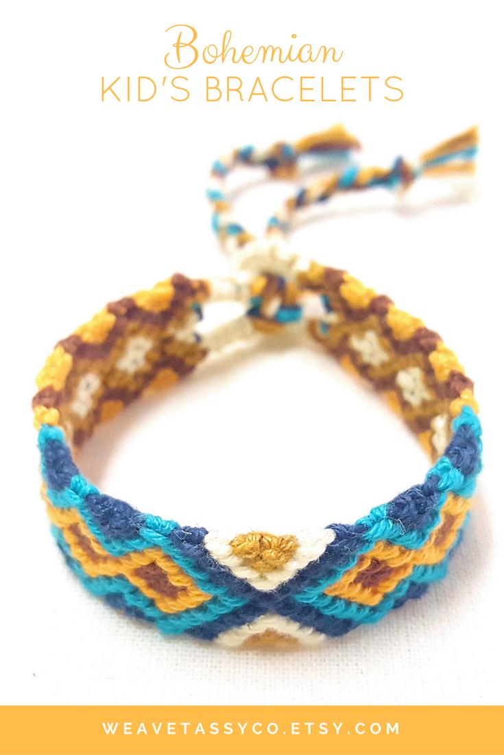 Braided toddler bracelet baby girl bracelet boho bracelet for kids