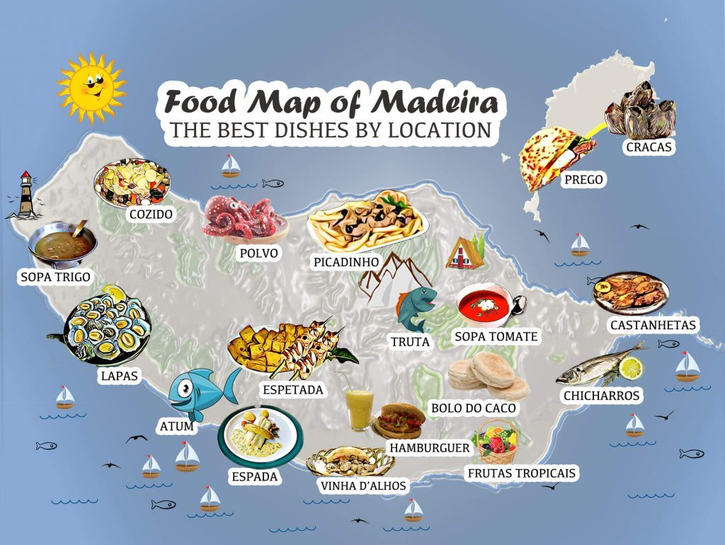 Madeira Food Map Lets Go Out And Enjoy All The Amazing - Portugal map madeira