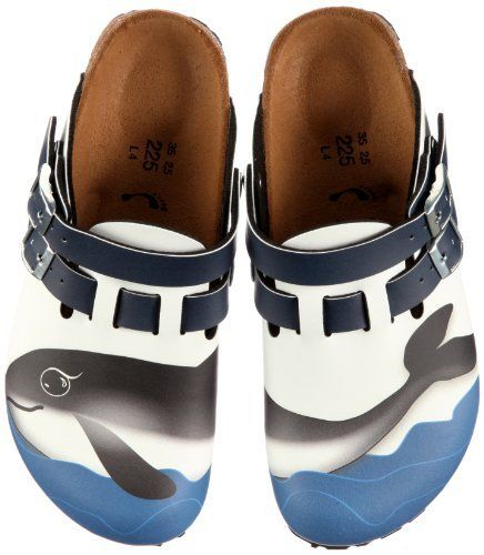 Birkis clogs Kay in size 26.0 N EU made of Birko-Flor in Harbor Whale White with a narrow insole Birki's. $56.14. Birko-Flor