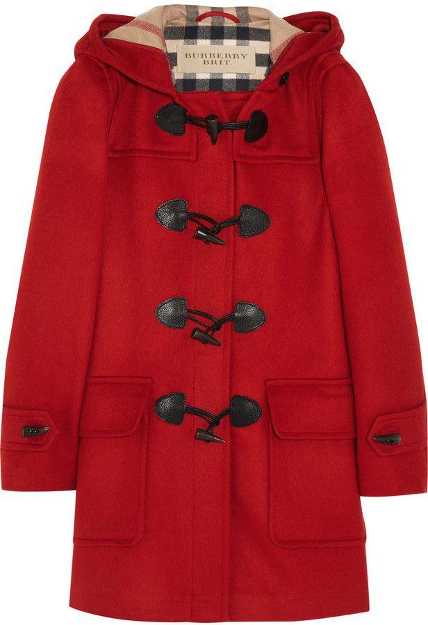 Burberry Hooded wool duffle coat