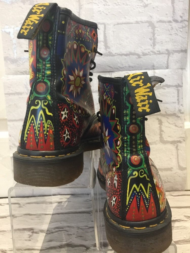2b967e3d67b Men's RARE Dr Marten Boots Uk10 EU45 Psychedelic Bohemian Boots Made In  England   eBay