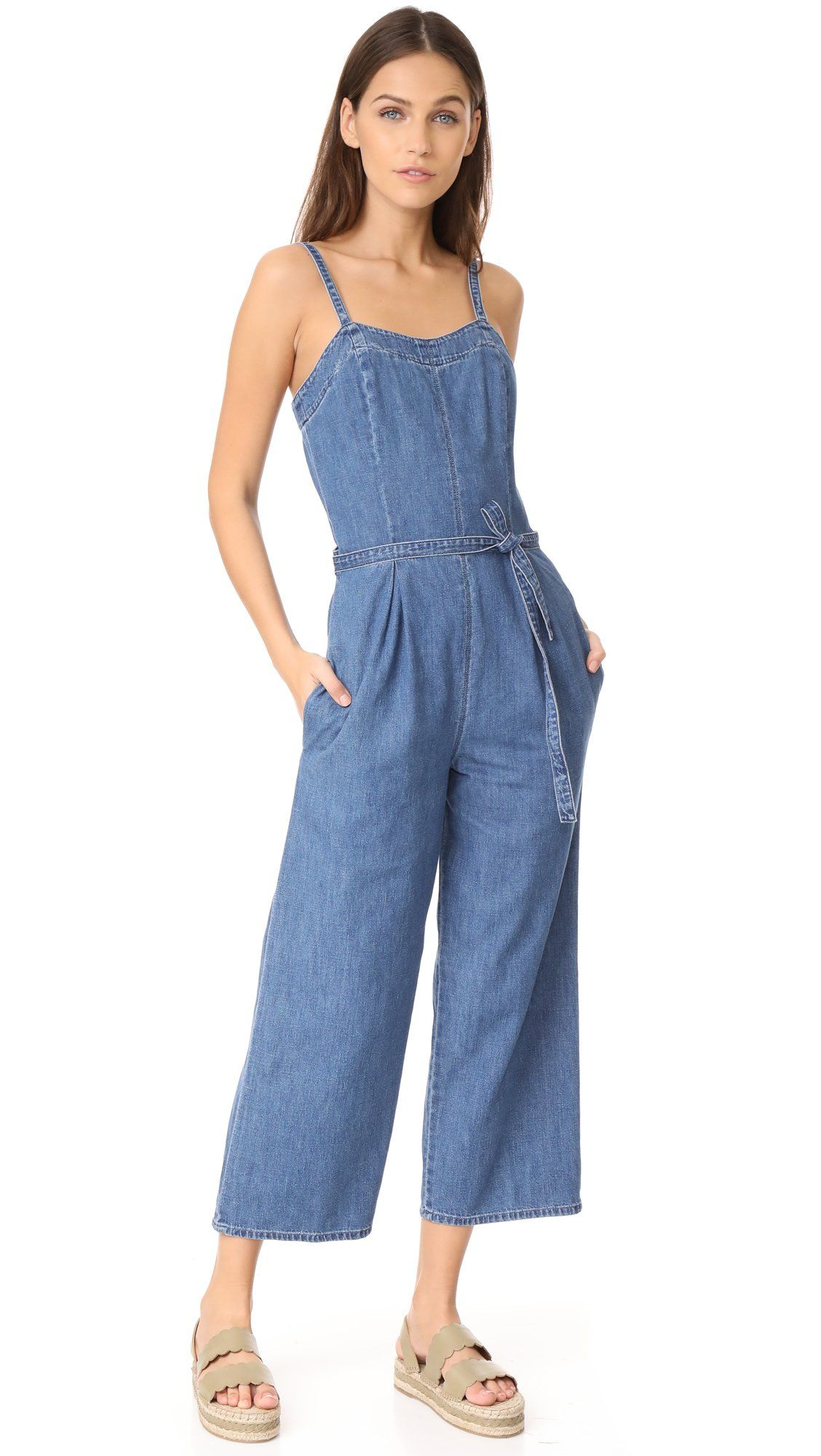 Ag adriano goldschmied womenus gisele jumpsuit atlas blue small
