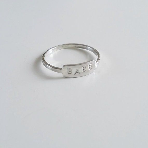 Nepheliad Jewelry Babe Ring Engraved Ring Made in Vancouver Victoire Boutique
