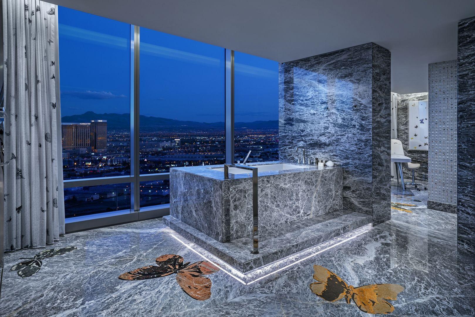 Damien Hirst Hotel Room Designed In Signature Style Nonagon Style Vegas Suites Hotel Room Design Hotel Suites