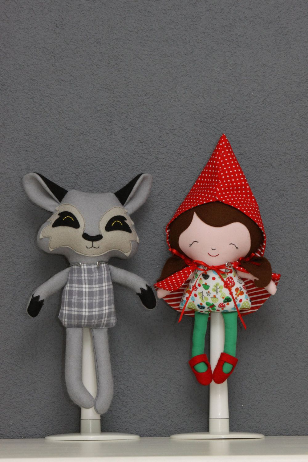 Little Red Riding Hood doll ragdoll softie toy by PuppetsandHugs ...