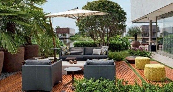 terrasse idées de conception plantes de balcon meubles de salon
