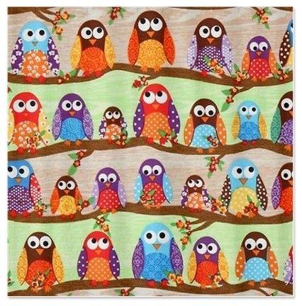 Fabric Owl Shower Curtain | Haiqal.com