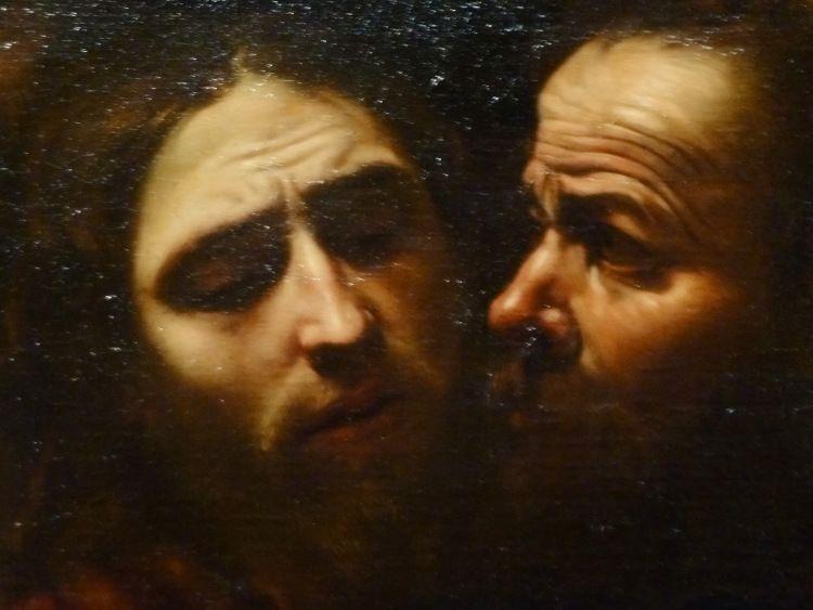 Caravaggio Jesus detail