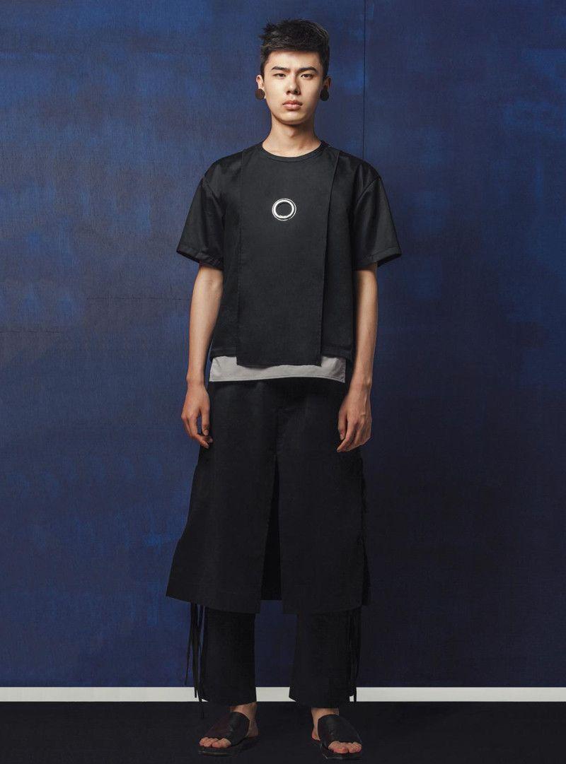 MARRKNULL Unisex Layered Hollow Shirt