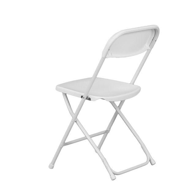 hercules series 800 lb capacity premium white plastic folding chair