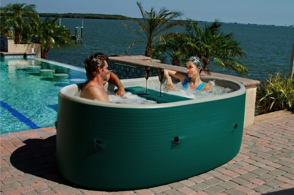 Superior A Lightweight, Inflatable Solution: Oval AiriSpa Portable Hot Tub