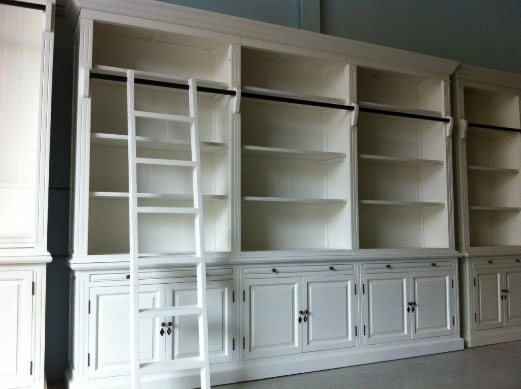 New French Provincial Library Bookcase 3 Bay Shelf Display Cabinet Chic Ladder Http