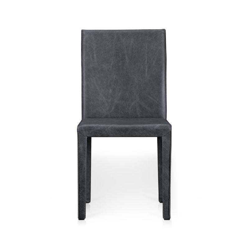Folio Oceana Blue Top Grain Leather Dining Chair