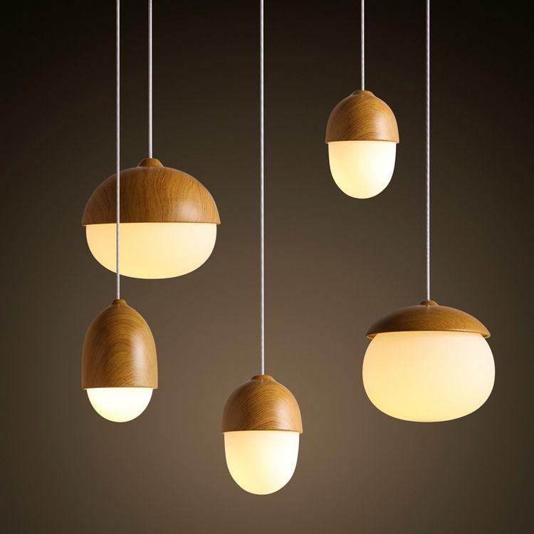 awesome suspension bois et verre dpoli globes en formes varies de style scandinave with. Black Bedroom Furniture Sets. Home Design Ideas