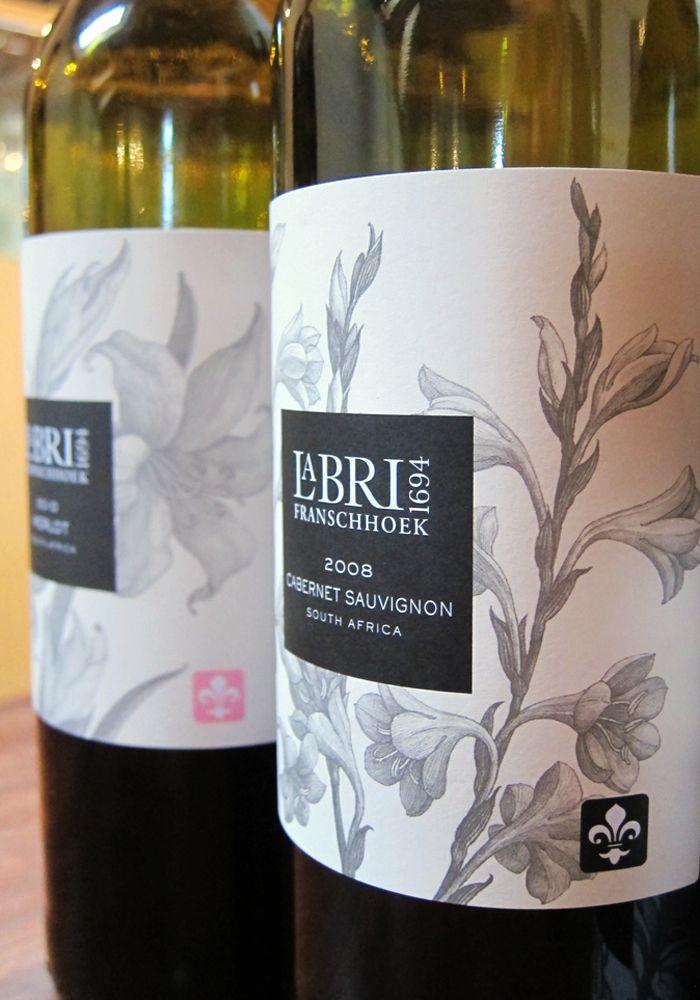 La Bri Wine label design, South Africa Wine Pinterest Wine - wine label