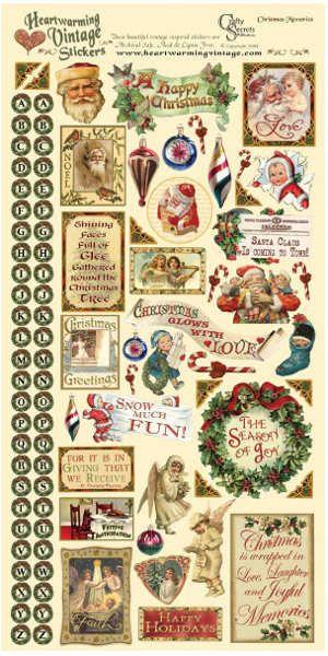 Heartwarming Vintage Stickers - Christmas Memories