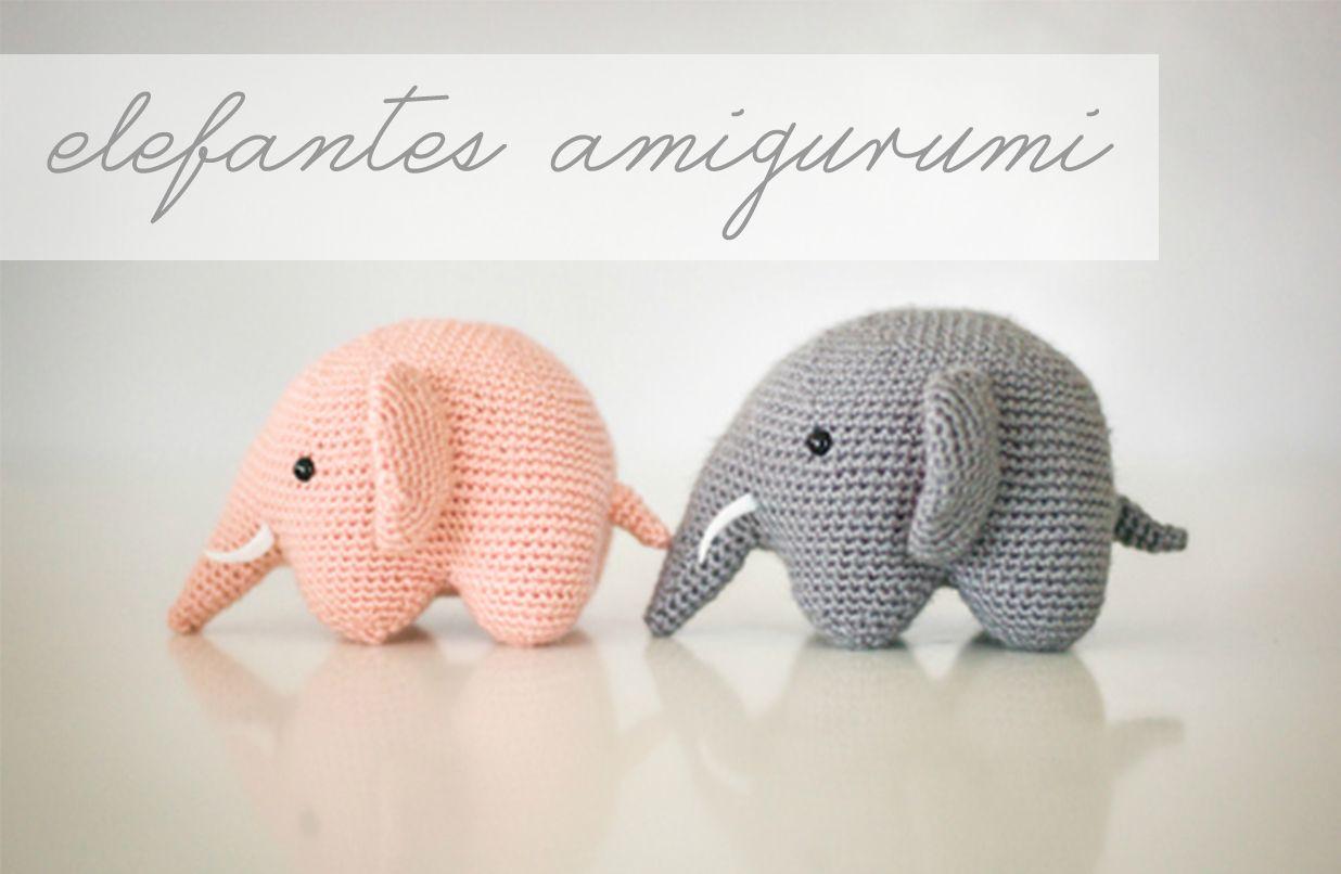 elefantes amigurumi / elephant amigurumi | Arigumis | Pinterest