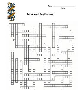 This Is A Crossword Puzzle That Covers The Topic Of Dna And