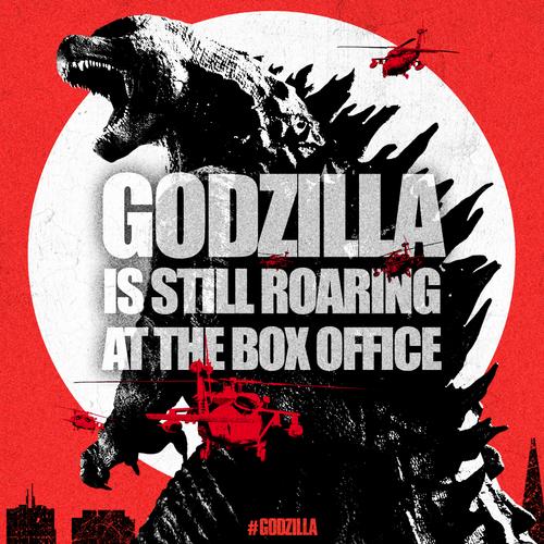 Godzilla 2014 Box Office Announcement Film Godzilla King Kong Kaiju