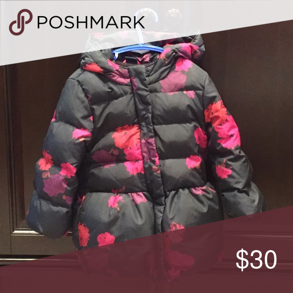7b41c25a9 Baby Gap toddler girls floral peplum puffer 3T In excellent ...