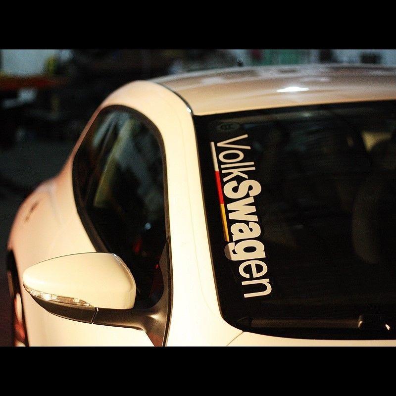 VW GOLF Racing Sport Car Window Windowshield Sticker Decal Vinyl - Car window decal stickers sports