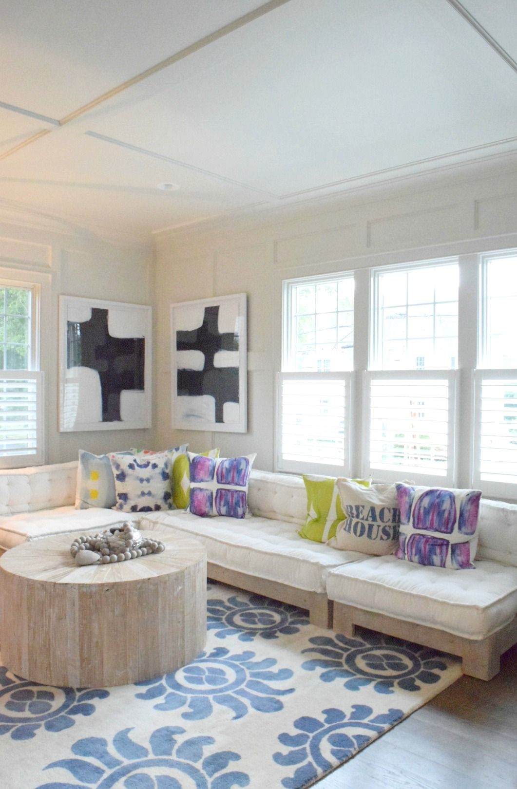 Coastal Living Eclectic Beach House Tour | Coastal, Living rooms and ...