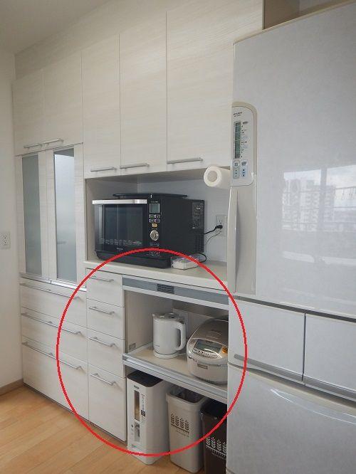 リクシル アレスタの収納ユニットを上手に選んでキッチンのカップボード 背面収納 完成 画像あり アレスタ タカラ キッチン 小さなパントリー
