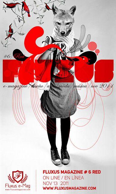 Fluxus Magazine VI / ROJO / RED by AlexCano, via Flickr