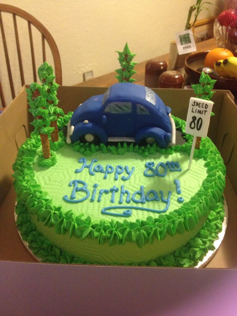 Here is the edible vw i put on the cake cake birthday