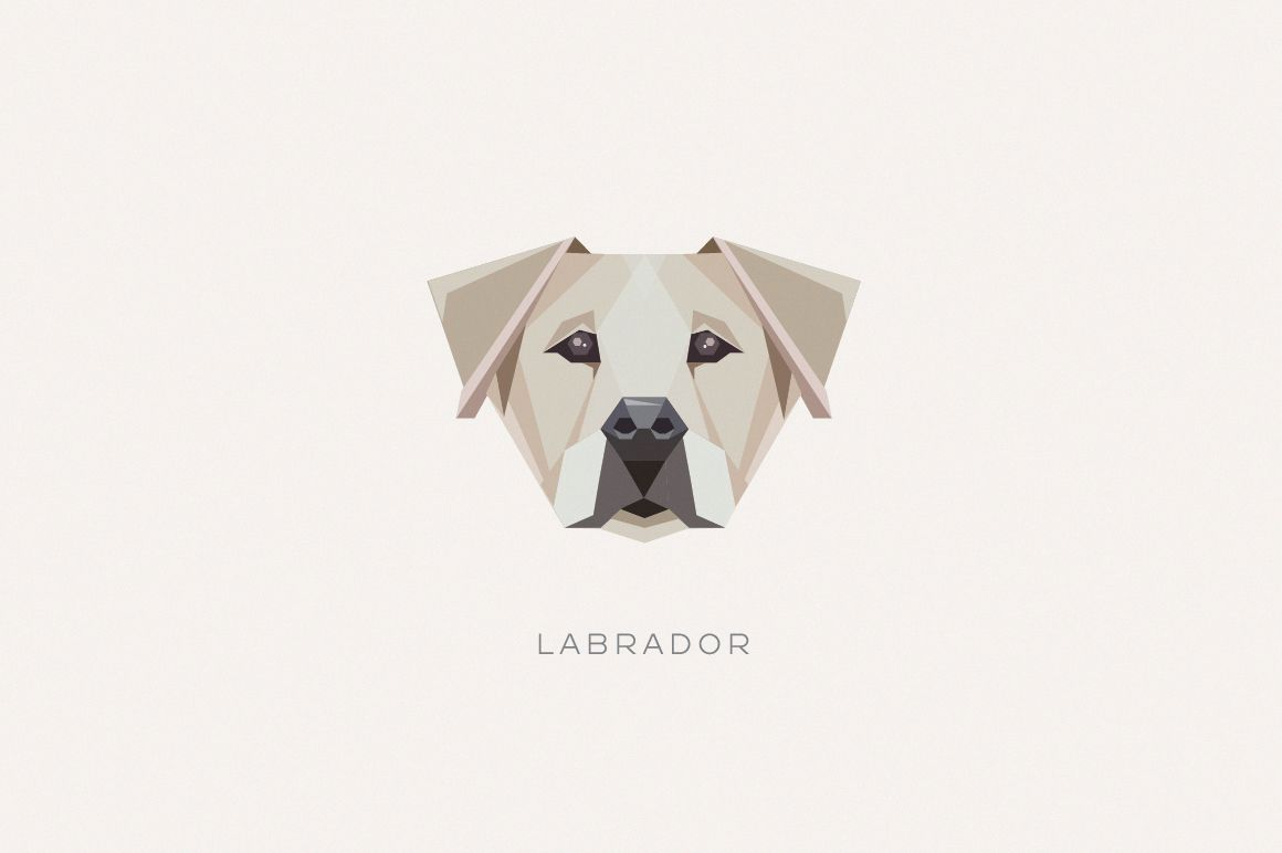 Geometric Dogs Vector Illustrations On Behance Geometric Dog