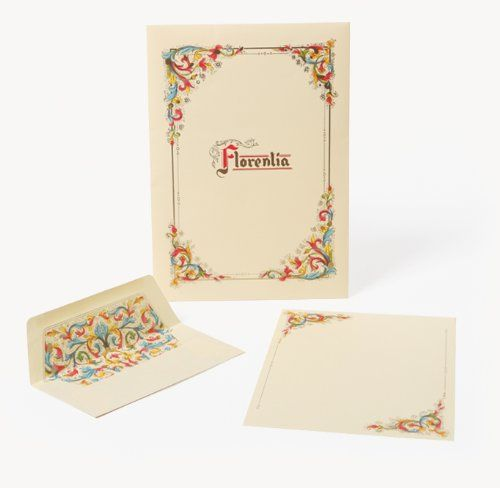 Amazon.com : Florentia Stationery Portfolio: Sheets and Envelopes, Italian Paper : Office Products